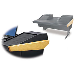 "Argosy 70-70V2R Universal Workstation Desk with 25"" Flat Desk Insert and Two VR1503 Front 15 RU & Rear 3 RU (Oak)"