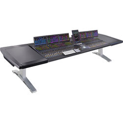 "Argosy Eclipse 7-Bucket Console Workspace for Avid S6 Workstation with Left and Right Side Desk Surface (Black, 139.6"")"