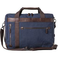 Barber Shop Borsa Undercut Convertible Camera Bag (Canvas & Leather, Blue & Dark Brown)