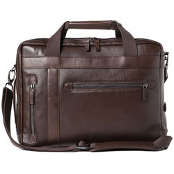 Barber Shop Borsa Undercut Convertible Camera Bag (Smooth Leather, Dark Brown)