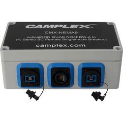 Camplex NO4FDW-A OpticalCON QUAD to 4 SC Female Singlemode Breakout Adapter Box