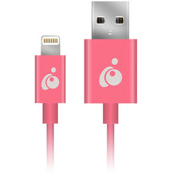 IOGEAR Charge & Sync Flip Reversible USB to Lightning Cable (3.3', Pink)