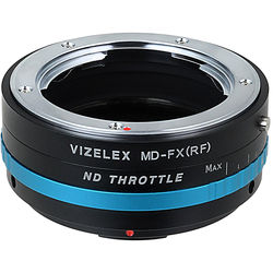 FotodioX Minolta MD Lens to Fujifilm X-Mount Camera Vizelex ND Throttle Adapter