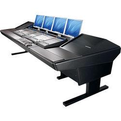 "Argosy V2RG Universal Workstation Desk with Two VR1000 10 Upper Rack Module (Black, 119"")"