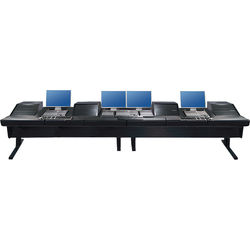 """Argosy V4RGE Universal Workstation Desk with Four VR1003 10U Front, 3U Rear Module (Black, 179"""")"""