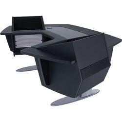 Argosy Aura 260 Personal Workstation Desk with 11 RU Space, Upper Left & Right