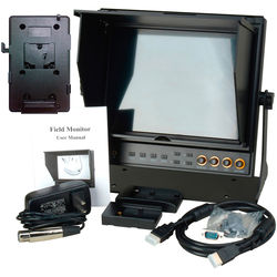 "Delvcam DELV-HDSD-10-VM 9.7"" Dual HDMI LCD Monitor and V-Mount Battery Plate"