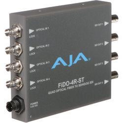 AJA FiDO Quad Channel ST Fiber to 3G-SDI Mini Converter