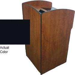 AmpliVox Sound Systems Flash Podium with Rack Box (Black)