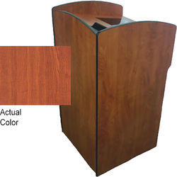 AmpliVox Sound Systems Flash Podium with Viewport (Cherry)