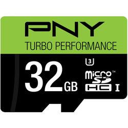PNY Technologies 32GB Turbo Performance High Speed UHS-I microSD Memory Card (U3, Class 10)