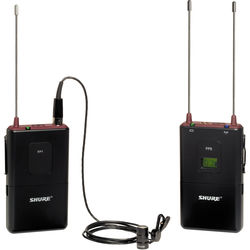 Shure FP1 Bodypack Transmitter with FP5 Receiver and WL183 Lav Mic Kit (G4: 470 - 494 MHz)
