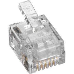 Platinum Tools EZ-RJ12/11 Connector with Standard Tab (Box, 100-Pieces)