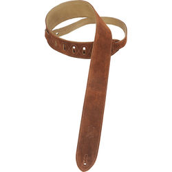 "Levy's 2"" Suede Guitar Strap with Suede Backing (37 to 54"", Brown)"