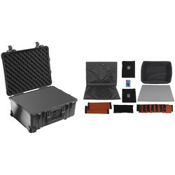 Pelican 1560 Case with Foam and Porta Brace PB-1560DKO LongLife Divider Kit (Black)