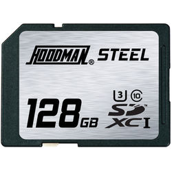 Hoodman 128GB SDXC Memory Card RAW STEEL Class 10 UHS-1