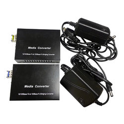 Tactical Fiber Systems TFS Ethernet Media Converter 10/1000 LC Single Mode (Pair)