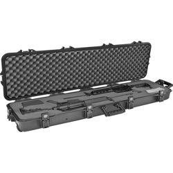 Plano All-Weather Double Scoped Rifle/Shotgun Wheeled Case with Pluck Foam (Black)