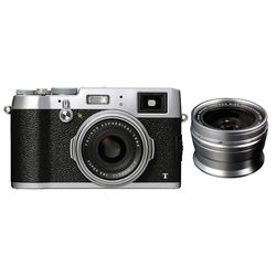Fujifilm X100T Digital Camera with Wide-Angle Conversion Lens Kit (Silver)