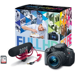 Canon EOS Rebel T5i DSLR Camera with 18-55mm Lens Video Creator Kit