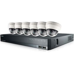 Hanwha Techwin SRK-4060S 8-Channel 8MP NVR with 2TB HDD and 6 1080p Dome Cameras