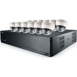 Samsung SRK-5120S 16-Channel 8MP NVR with 3TB HDD and 12 1080p Dome Cameras