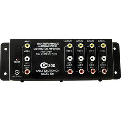 Cable Electronics AV400 1x4 Composite A/V Distribution Amplifier