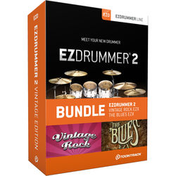 Toontrack EZdrummer 2 Vintage Edition - Virtual Drum Module with Sound Libraries Bundle (Download)