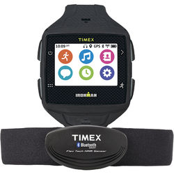 Timex IRONMAN ONE GPS+ Smart Fitness Watch with Heart Rate Monitor (Black/Gray)