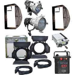 K 5600 Lighting Joker-Bug 200/400W HMI AC/DC PAR 2-Light Combo News Kit