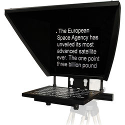 """Autocue/QTV Professional Series 17"""" Teleprompter with Folding Hood"""