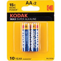 Kodak AA 1.5v Alkaline Battery (2-Pack)