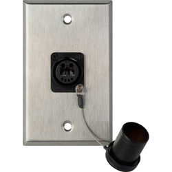 Camplex 1-Gang Stainless Steel Wall Plate with One OpticalCON Duo Fiber Optic Connector and Dust Cap
