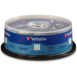 Verbatim M-Disc 4.7GB DVD-R Discs (Spindle, 25-Pack)