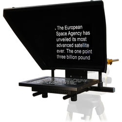 """Autocue/QTV Professional Series 12"""" Teleprompter with Folding Hood"""