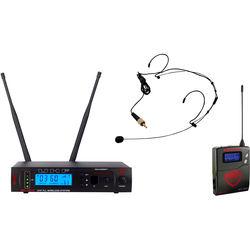 Nady W-1KU Single UHF Receiver Wireless System with an HM-10 Head-Worn Microphone (Black)
