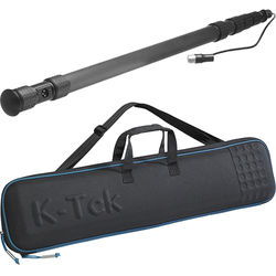 K-Tek K-102CCR 9' Graphite Boom Pole with Coiled Cable and Case Kit