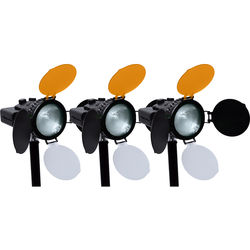 AXRTEC Location 30W LED Fresnel 3-Light Kit