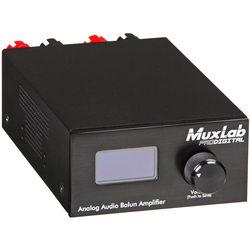 MuxLab 500219 Analog Audio Balun Amplifier with RJ45 Input for Audio Balun and Audio Matrix Switch