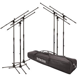 On-Stage MS7701B Euroboom Microphone Stand with Bag (6 Stands)