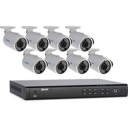 FLIR 8-Channel NVR with 2TB HDD and 8 2.1MP IP Bullet Cameras