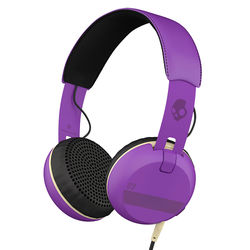 Skullcandy Grind Headphones with Single-Button TapTech and Mic (Purple)