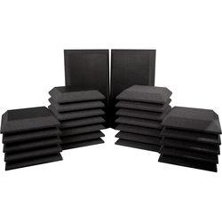 Ultimate Acoustics Studio Bundle III- 26-Piece Acoustic Foam Bevels, Bevels with Vinyl and Bass Traps