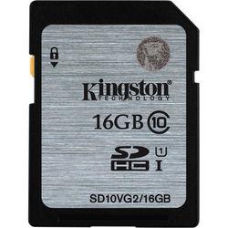 Kingston 16GB UHS-I SDHC Memory Card (Class 10)
