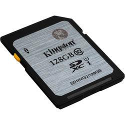 Kingston 128GB UHS-I SDXC Memory Card (Class 10)