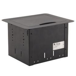 Kramer Table Mount Modular Multi-Connection Solution - Tilt-Up Lid (Black)