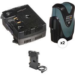 Anton Bauer Digital 90 Two-Battery Kit for FS7 with Two-Position Charger (Gold Mount)