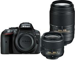 Nikon D5300 DSLR Camera with 18-55mm and 55-300mm Lenses Kit (Black)