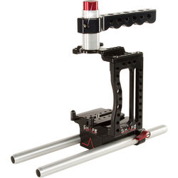 """SHAPE XC10CAGEROD XC10 Camera Cage with Two 10"""" 15mm Rods"""