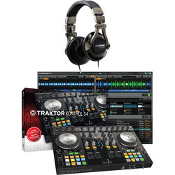Native Instruments TRAKTOR KONTROL S4-MK2 Kit with DJ Headphones